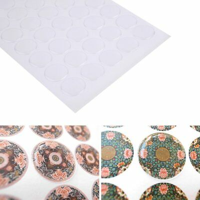 "Lot 300 1"" inch Dome Circle Clear Epoxy Stickers for Bottle Caps 1.5mm Thickness"