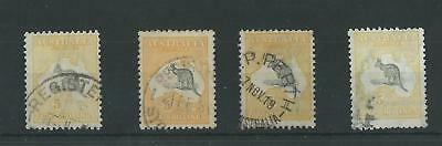 Australia 1915-27 5/- Roo Shades SG42/a/b/c Used Cat£500 (4v)