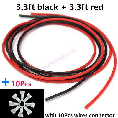 18AWG Soft Silicone Kabel Wire Flexible Power Supply Cable Cord Electronic DIY