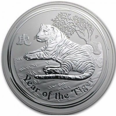 2010 2 oz Silver Perth Mint Lunar Year of the TIGER Coin