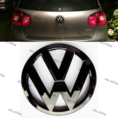 VW Volkswagen Golf Mk5 V Rear Black Glossy Badge Logo Boot Rear GTI Emblem 11cm