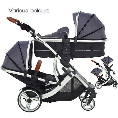 DUELLETTE CBBS DOUBLE twin Pushchair pram travel system Tandem car ...