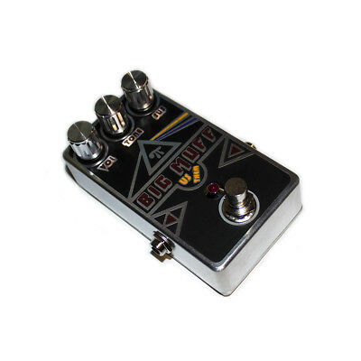 Big Muff Triangle distortion pedal hand crafted metal engraved boutique