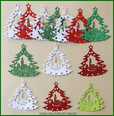 Christmas Die Cuts X 12,card Making,embellishments,christmas,xmas,santa,toppers