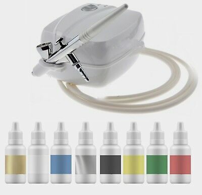 Little Airbrush Cake Decorating Kit + 8 Air Brush Colours & Pro Compressor ❤