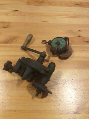 2 Vintage Hand Crank Bench Grinders; Old Tool; Collectable; Unique; Works