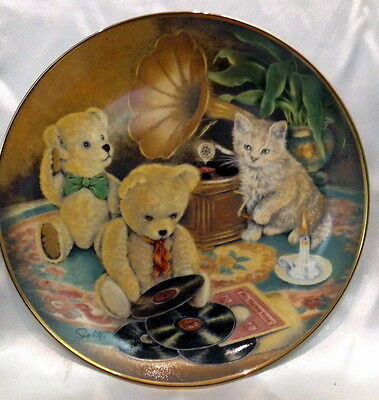 ♡ FREE POST FRANKLIN MINT CABINET PLATE LTD ED MUSIC HOUR by SUE WILLIS WITH COA