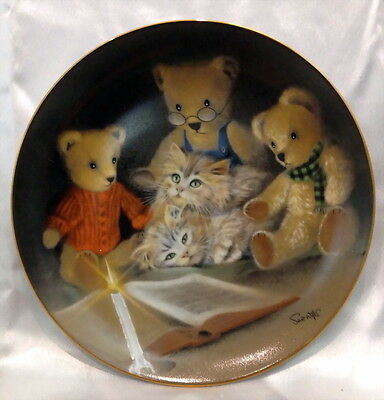 ♡ FREE POST FRANKLIN MINT CABINET PLATE LTD ED STORY HOUR by SUE WILLIS WITH COA