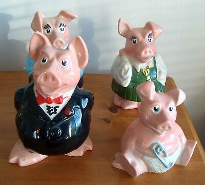 4 x Natwest pigs money box Hillary Woody Sir Nathaniel Anabelle no stoppers exc
