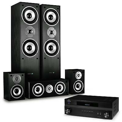 Système home cinema 5 canaux ampli son surround set enceintes hifi 3 voies 335w