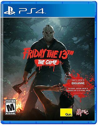 Friday The 13th: The Game PlayStation 4 Edition w/ Multiplayer + Jason Skin NEW