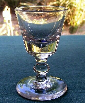 "Antique Victorian 3 1/2"" Footed Drinking Glass"
