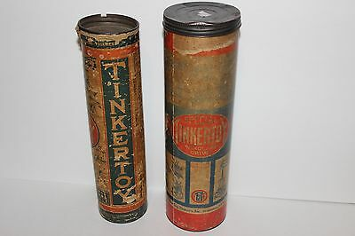 Vintage Tinker Toys by The Toy Tinkers - Includes Cans & Lids