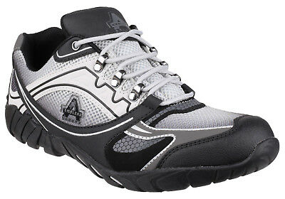 Mens Safety Trainers / Grey Steel Toe Cap Work Laced Shoes Amblers