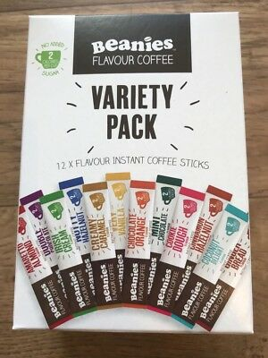 Variety Box Beanies Flavour Coffee Individual 1 cup instant 12 sachets sticks