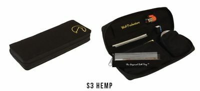 NEW Wolf Productions Zip Up Hemp Rolling Kit/Bag/Wallet S3 in Black and Grey
