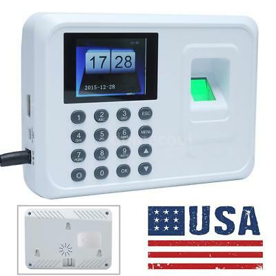 A5 DC 5V Fingerprint Attendance Machine Time Clock Employee Check-in Reader Y6A2
