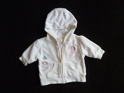 Baby clothes GIRL premature/tiny<7.5lbs/3.4kg lined fairies velour jacket hood
