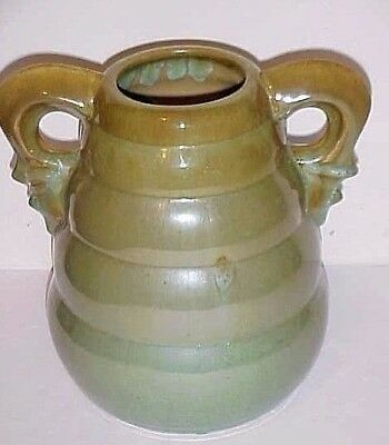 Fulper Pottery Large Bee Hive Shape # T38L Vase Ink - Stamped Mark Early 1920's