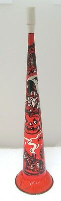 Antique USA Metal Toy Halloween Tin Litho 15 In Party Horn Witch JOL Owl Cottage