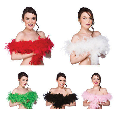 SS Feather Boa Super Soft Ladies Fancy Dress Red
