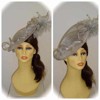 Mother of Bride Wedding Ascot SSP Hawkins Collection WH283 Fascinator, Silver