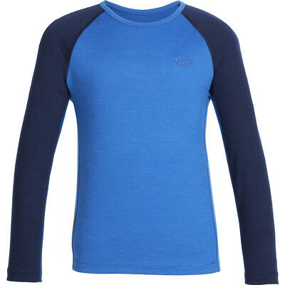 Icebreaker Oasis LS Crewe Kids Thermal Top, Cadet/Navy