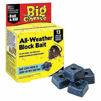 The Big Cheese All Weather Rat Mouse Rodent Killer Poison Bait Blocks 15 Blocks