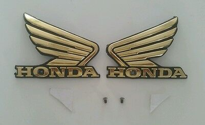 Honda Fuel Tank  Badge Wing Decal Stickers Cg Cb Cafe Racer Etc