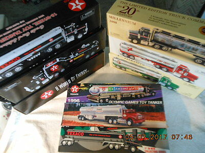 (1) Lot Of 9 Rare Texaco Toy Tankers And Credit Card Edition Coin Banks