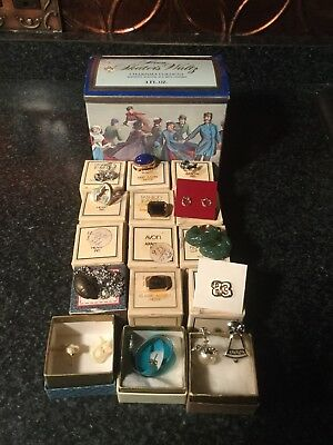 Junk Drawer Lot Large Lot Of Vintage Avon Jewelry From The 80s NOS