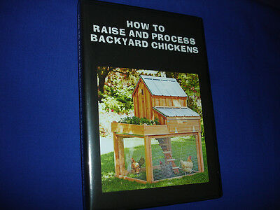 V7    How To Raise And Process Backyard Chickens Dvd Guide -Canning-Butchering
