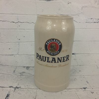 PAULANER - German Beer Glass 1.0 Liter Ceramic Stein - Masskrug -  Never Used