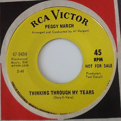 Peggy March - If You Love Me / Thinking Through My Tears -Rca Promo. Ex