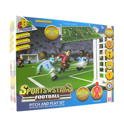 Brand New Character Building Sports Stars Football Pitch And Play Set Ages 5+