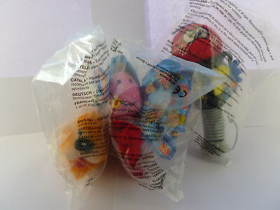 2001 Mc Donalds Magic Roundabout Happy Meal Toys Zebedee, Ermintrude and Dougal