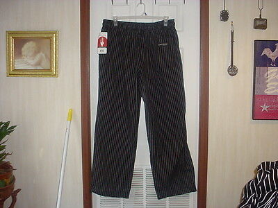 New With Tags Chef Work's Pinb Size Xxl Pinstripe Designer Chefs Pants