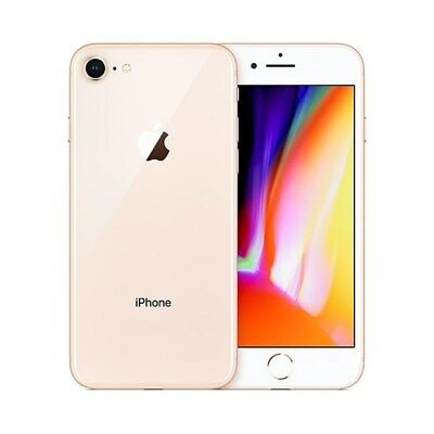 New Apple iPhone 8 64GB Gold 12MP Unlocked Smartphone 12M Warranty Grade A UK