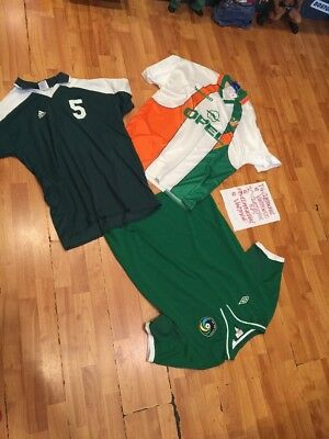 3 Soccer Jerseys XL Men's 2 Umbro 1 Adidas Green/White