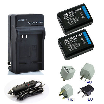 NP-FW50 Li-Ion Battery / Rapid Charger For Sony A6000 A3000 A5000 A6300 NPFW50