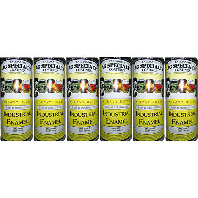 CML30340 Pack of Six 6 Yellow Enamel Spray Paint Cans for Gehl