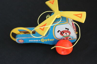 vintage Fisher Price helicopter pull toy