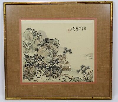 Old Chinese Framed Album Paintings On Silk