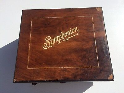 Antique SYMPHONION Music Box #48  As Is Not Running For Parts Or Restore