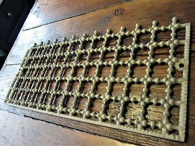 Ornate Segmented Cast Iron Fireplace Grill Heat Grate Shabby Vent Chic Register