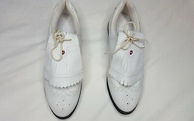 Dexter Vintage oxford white lace up whith kilies women size 9