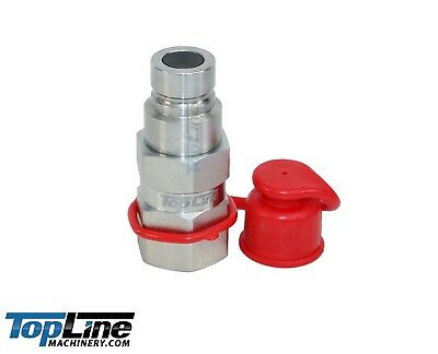 """TL23-M 1/2"""" NPT Flat Face Hydraulic Quick Connect Male Coupler Plug Skid Steer"""