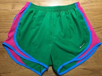 Nike Tempo Athletic Shorts Size XS Green Pink Blue Gym Running Workout Casual