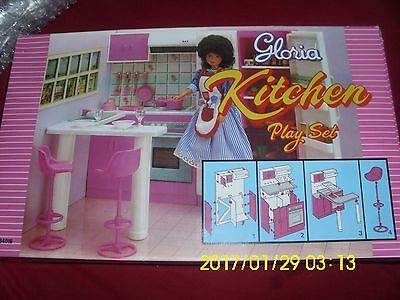 Gloria Kitchen Play Set Fits 11.5 In Dolls Stove Chairs Counter Sink Cabinet