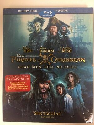 Pirates of the Caribbean: Dead Men Tell No Tales (Blu-ray/DVD) Brand New Sealed